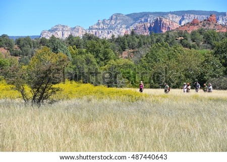 SEDONA, AZ - SEPTEMBER 20: Red Rock Park in Sedona, AZ on SEPTEMBER 20.2016. One of the most beautiful parks in Arizona, and many people visit every year.