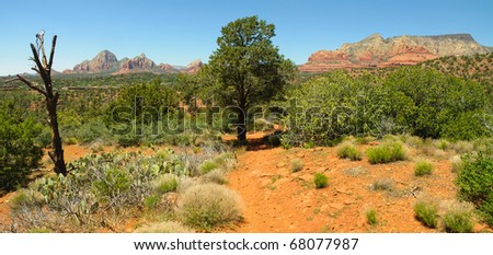 Sedona wilderness and sandstone buttes