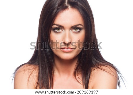 seductive woman portrait - isolated