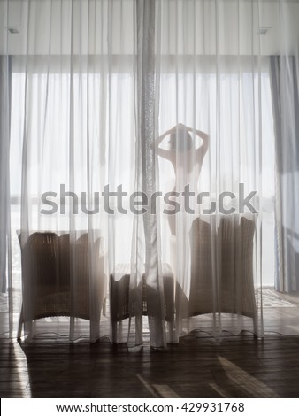 see through curtain sexy