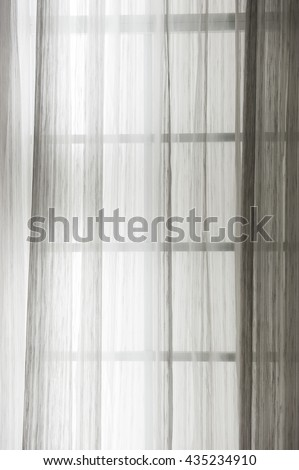 See Through Curtain With Light Outside.selective Focus