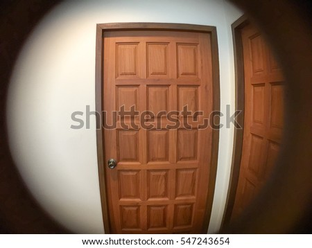 See Through The Peephole Of Door For Security