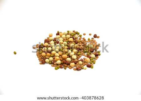 Seed for fresh sprouts, isolated on white background - stock photo