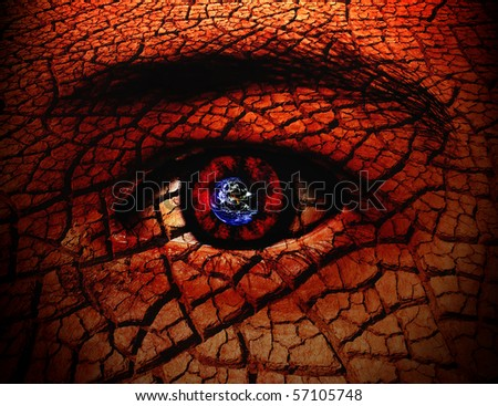 Seeing The World Through My Eyes Conceptual Background - stock photo
