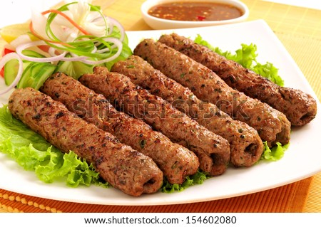 Seekh Kabab-5 - stock photo