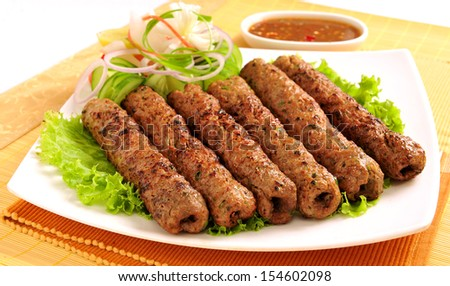 Seekh Kabab-3 - stock photo