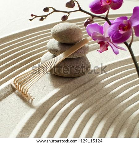 seeking for balance and inner beauty - stock photo