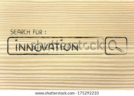 seeking innovation, design of internet search bar on unusual surface