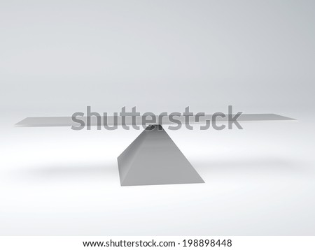 seesaw  in equilibrium. Balance concept - stock photo