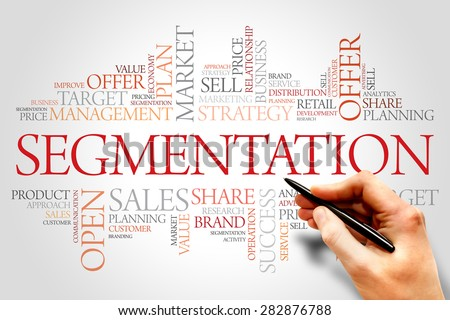 Segmentation word cloud, business concept - stock photo