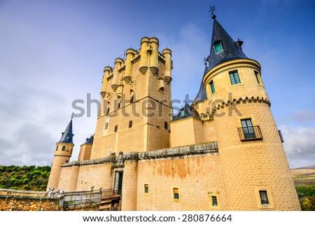 Segovia Castle in spain. - stock photo