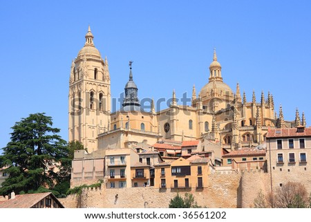 Segovia Cathedral, build between 14th and 18th centuries. (Segovia, Castilla y Leon, Spain)