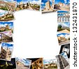 Segovia Collage, photo frame. Castilla y Leon, Spain - stock photo