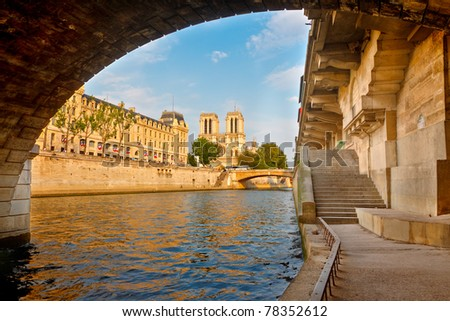 Seine river, Paris, France - stock photo