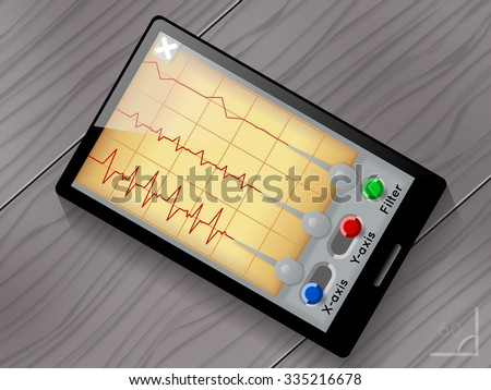 Seismograph app - stock photo