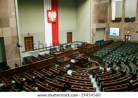 Sejm of the Republic of Poland - main hall.