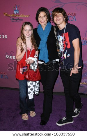 Sela Ward and family  at the Sweet 16 Celebration for Miley Cyrus. Disenyland, Anaheim, CA. 10-05-08