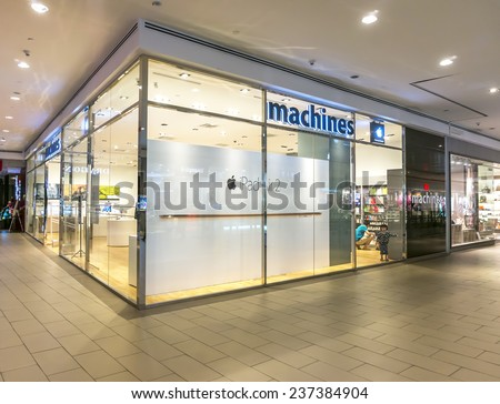 SELANGOR - DEC 10: Exterior of an Apple store as the US technology giant launches the new iPhone 6 on Dec 10, 2014 in Selangor, Malaysia.  - stock photo