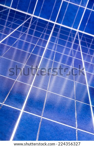Selected focus of photovoltaic cells with intercepting reflections