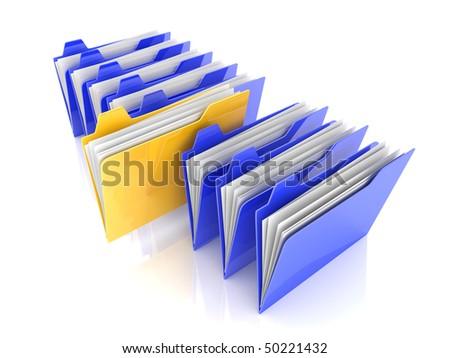 Selected folder - stock photo