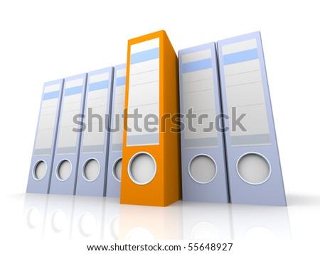 Selected Folder - stock photo