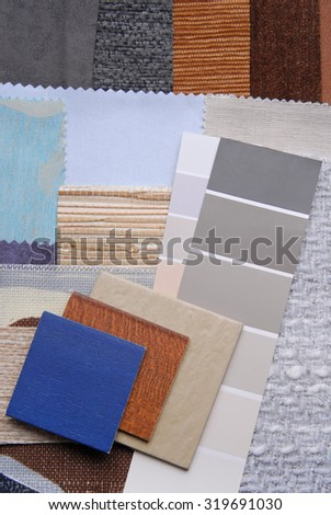 selection color for interior color - stock photo