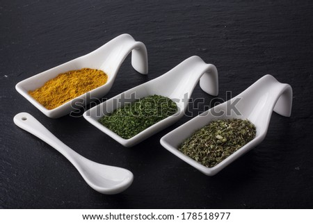 Selection of different spices