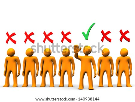 Selection of orange toon candidates on the white background. - stock photo