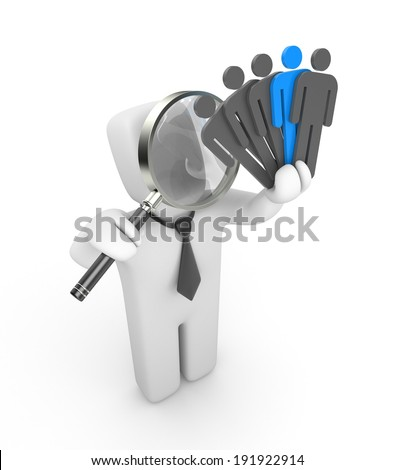 Selection of the personnel - stock photo