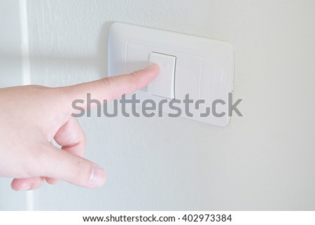 Selective Focus : Finger turn switch on
