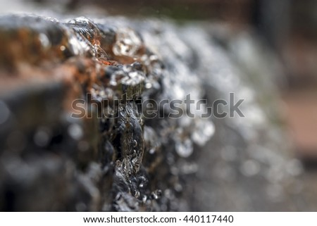 Selective focus of water splash with  blur background