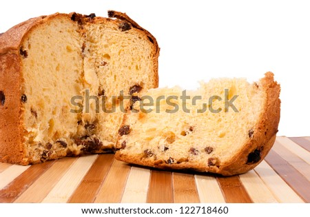 Selective focus on the slice of cake - stock photo