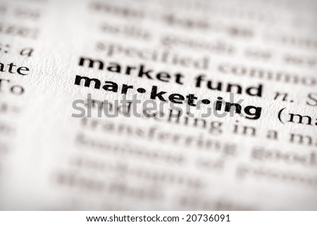 "Selective focus on the word ""marketing"". Many more word photos in my portfolio..."