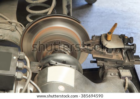 Selective focus to rebuild surface of disc brake / focus to shaft of rebuild surface machine