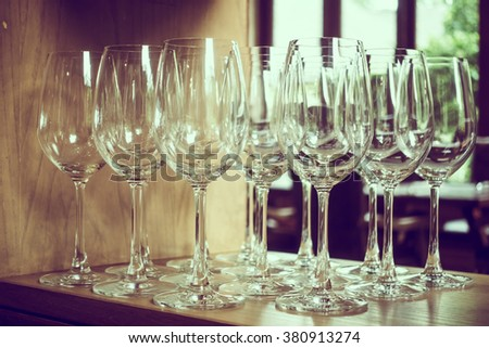 Selective wine glass - Vintage Filter