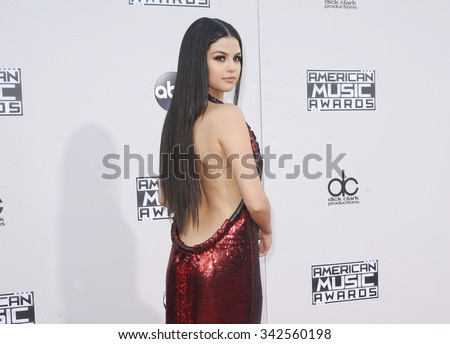 Selena Gomez at the 2015 American Music Awards held at the Microsoft Theater in Los Angeles, USA on November 22, 2015. - stock photo
