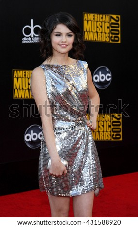 Selena Gomez at the 2009 American Music Awards held at the Nokia Theater in Los Angeles, USA on November 22, 2009.   - stock photo