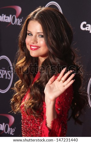 Selena Gomez at The 2013 ESPY Awards, Nokia Theatre L.A. Live, Los Angeles, CA 07-17-13 - stock photo
