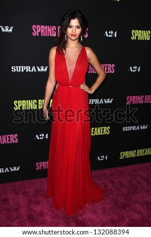 "Selena Gomez at the Los Angeles Premiere of ""Spring Breakers"" Arclight, Hollywood, CA 03-14-13"