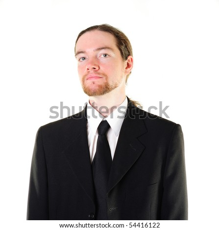 Self-confident businessman with a haughty smile
