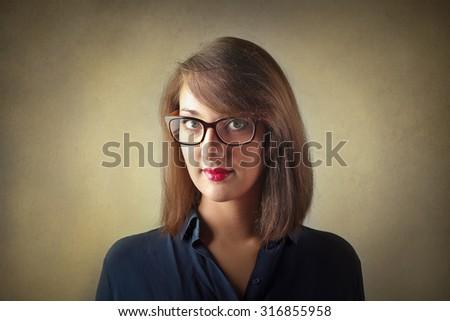 Self-confident businesswoman - stock photo