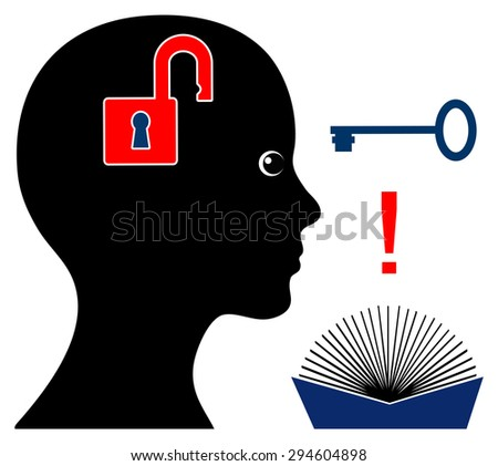 Self Help Book. Handbooks and manuals help us to find the key to the right answer - stock photo