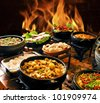 self-service food - stock photo