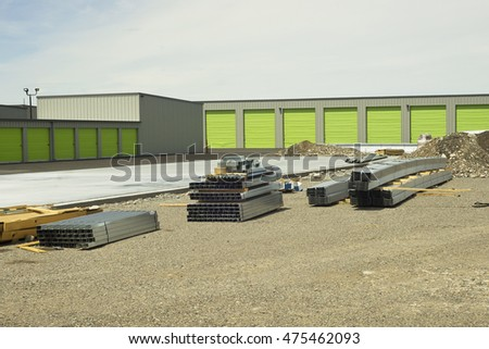 Self storage unit facility construction.
