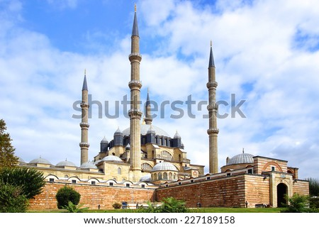 Selimiye Mosque, designed by Mimar Sinan in 1575.  Edirne                              - stock photo