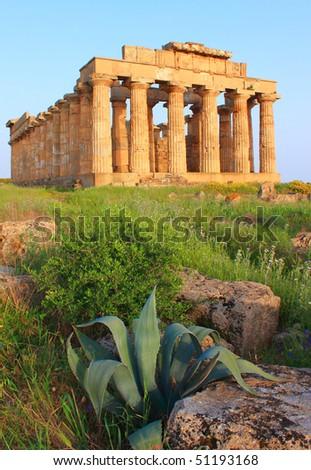 Selinunte (TP), Sicily - Temple - stock photo