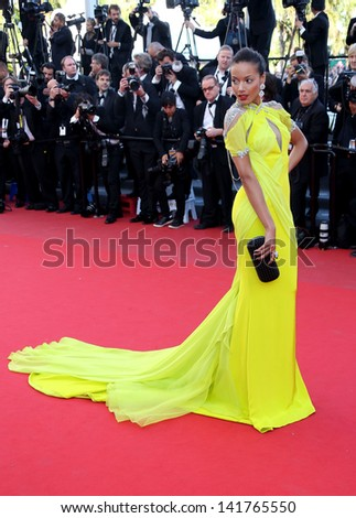 Selita Ebanks at the 66th Cannes Film Festival -Blood Ties - premiere Cannes, France. 20/05/2013 - stock photo