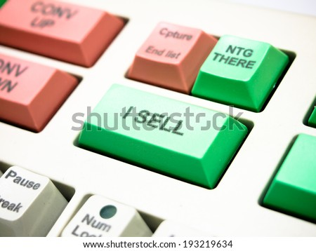 sell button key on investment keyboard