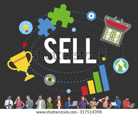 Sell Earning Money Payment Purchasing Concept - stock photo