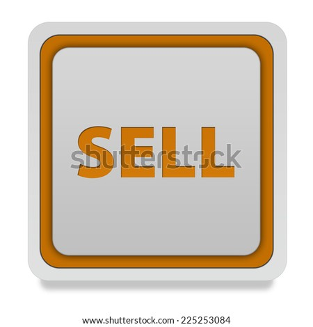 Sell square icon on white background